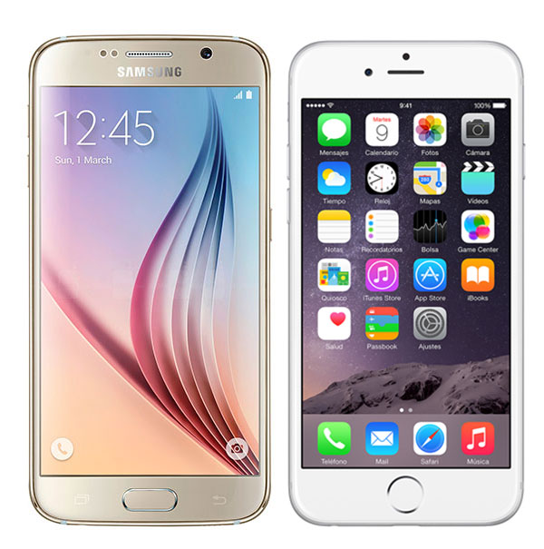 Comparativa Samsung Galaxy S6 vs iPhone 6