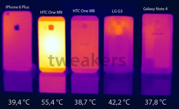 HTC One M9 sobrecalentamiento