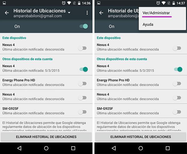 Android Historial Ubicaciones