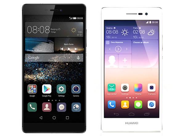Comparativa Huawei P8 vs Huawei Ascend P7