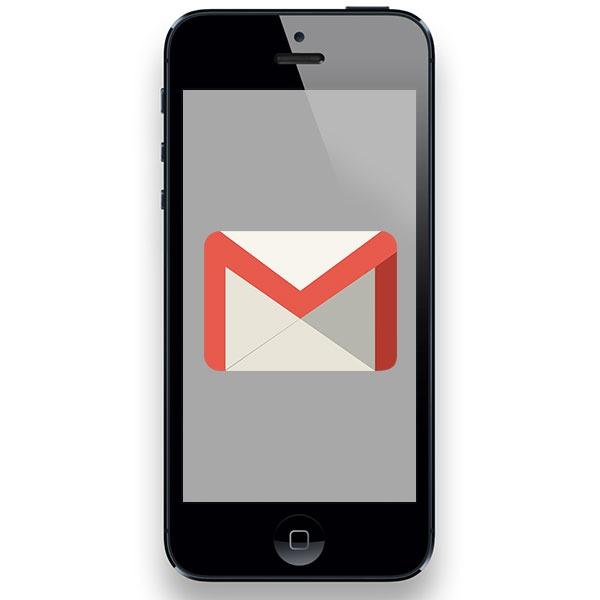 iPhone Gmail unas cuantas cuentas