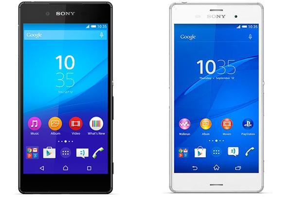 Comparativa Sony Xperia Z3 vs Sony Xperia Z3+