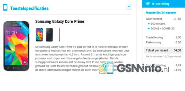 Samsung Galaxy Core Prime Value Edition