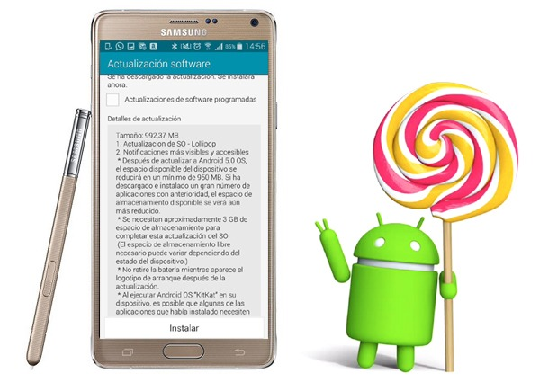 Android 5.1.1 <stro />Lollipop</strong>® en el <strong>Samsung</strong>® Galaxy Note 4&#8243; width=&#8221;600&#8243; height=&#8221;425&#8243; /></p> <p style=