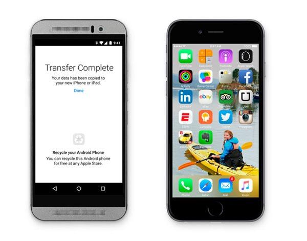 iOS 9(nueve) Move to iOS