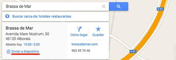 Google Maps enviar Android