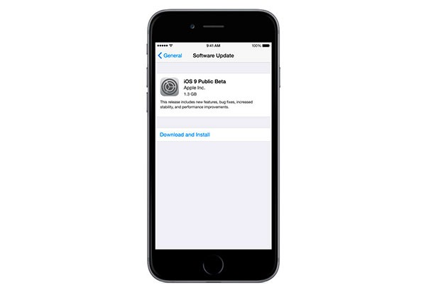 Instalar beta iOS 9