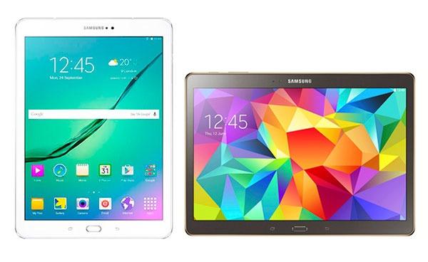 Comparativa Samsung Galaxy Tab S2 9.7 vs Samsung Galaxy Tab S 10.5