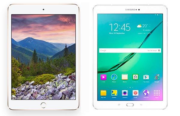 Comparativa iPad mini 3 vs Samsung Galaxy Tab S2 8.0