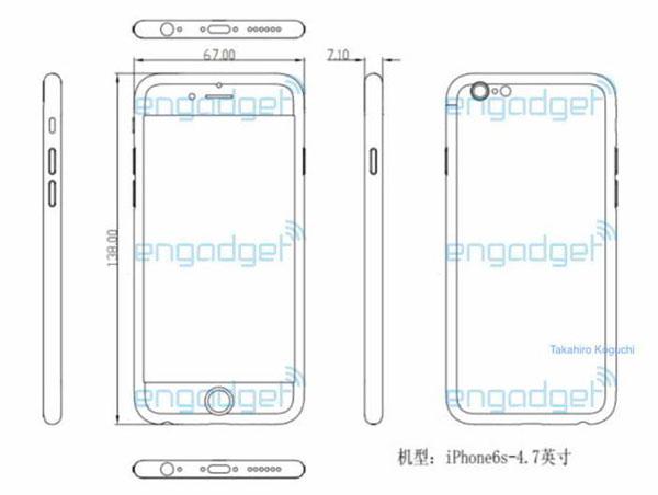 iPhone 6S esquema