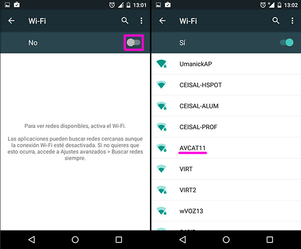 Android Conectar WiFi