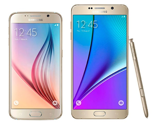 Comparativa Samsung Galaxy S6 vs Samsung Galaxy Note 5