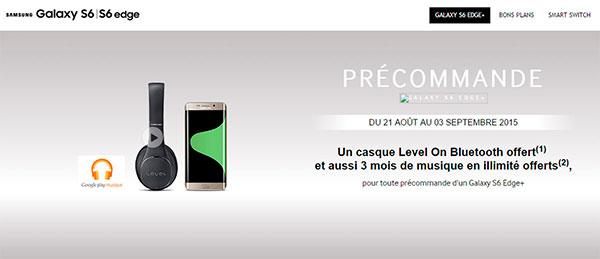 Samsung Galaxy S6 edge+ preorder
