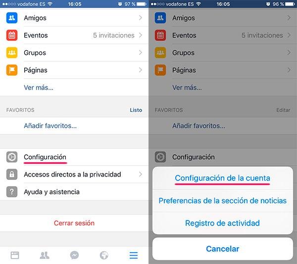 facebook activar hd