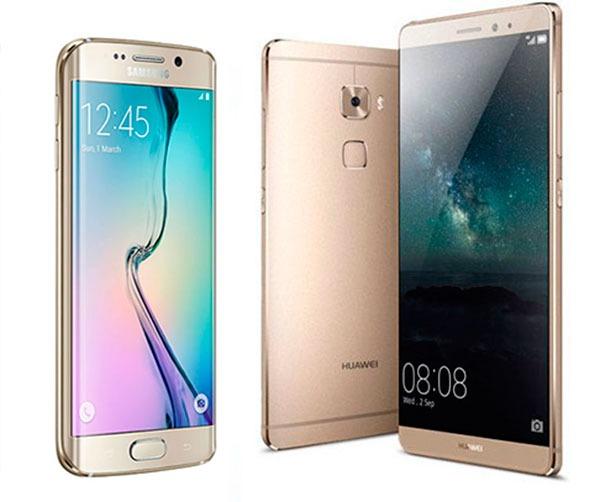 Comparativa Samsung Galaxy S6 Edge+ vs Huawei Mate S
