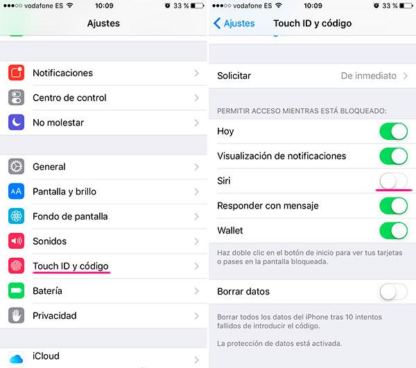 iOS 9(nueve) bloqueo