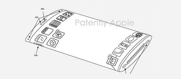 patente iPhone pantalla curva