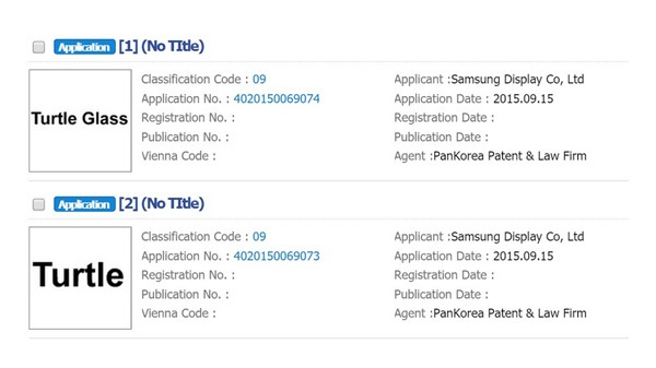 Samsung Turtle Glass registration