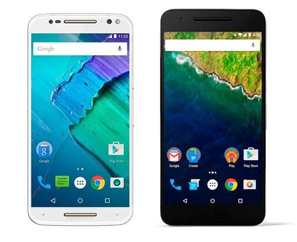 Comparativa Motorola Moto X Style vs Google Nexus 6P