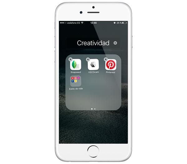 iOS 9 arrastrar carpetas