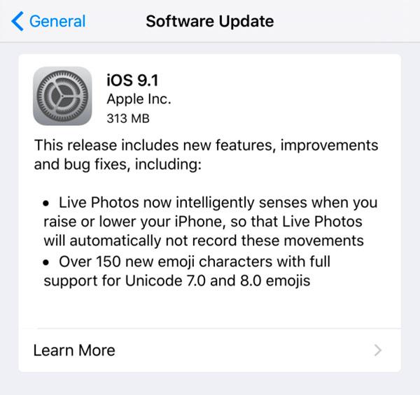 La actualización a iOS 9.1 puede borrar las alarmas del iPhone