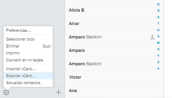 iOS Android-OS contactos