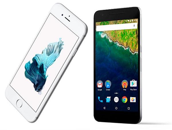 Comparativa iPhone 6S Plus vs Google Nexus 6P
