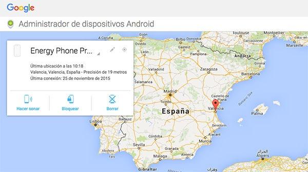 Cómo localizar en el mapa un móvil Android robado o perdido