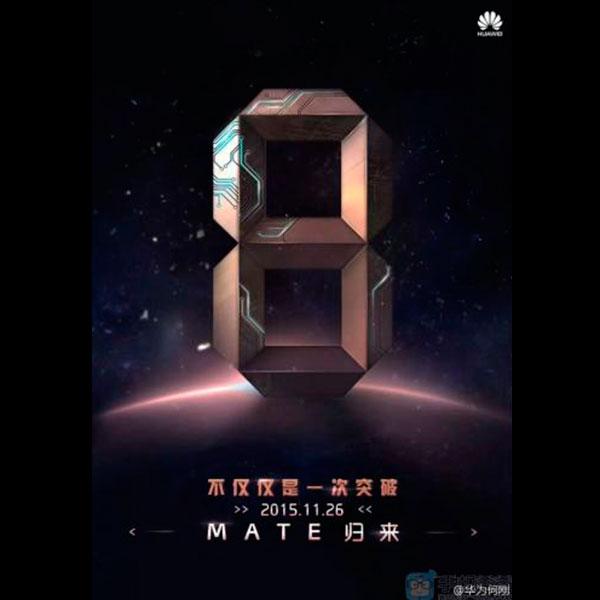 Se acerca el lanzamiento del Huawei Mate 8