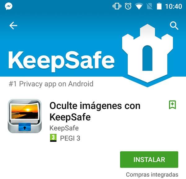 Ocultar fotos Keepsafe