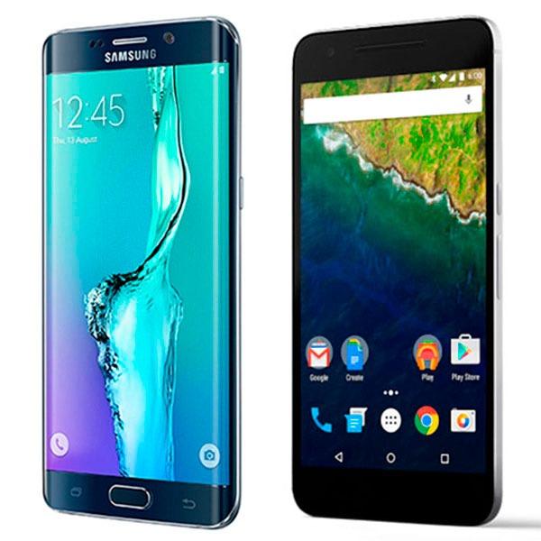 Comparativa Samsung Galaxy S6 edge+ vs Google Nexus 6P