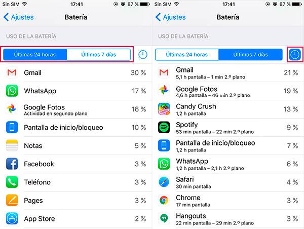 iphone apps bateria