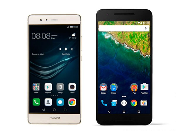 Comparativa Huawei P9 vs Nexus 6P