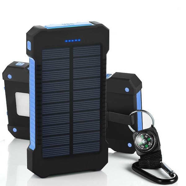 Consigue un cargador solar portátil de 10.000 miliamperios por 22 euros