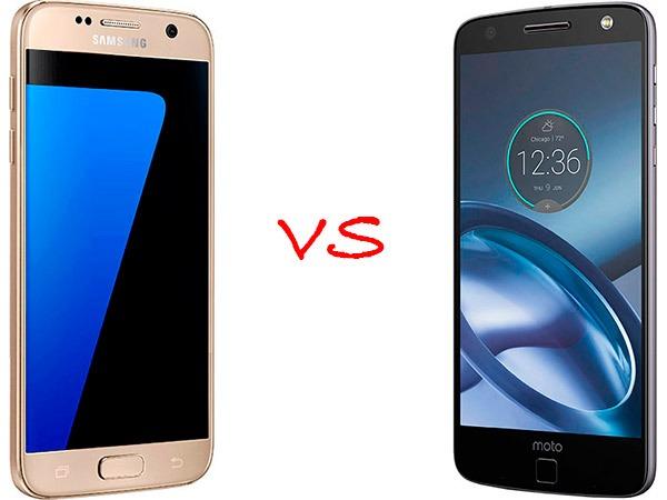 Comparativa Samsung Galaxy S7 vs Lenovo Moto Z