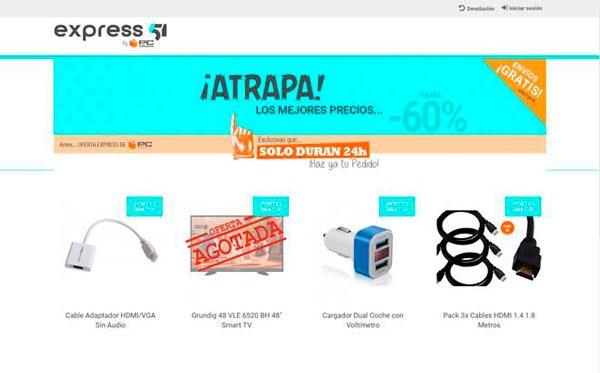 Express51, una web de PcComponentes para encontrar ofertas flash