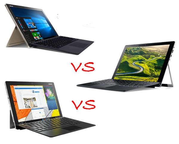 Comparativa Asus Transformer 3 Pro vs Acer Switch Alpha 12 vs Lenovo Miix 510