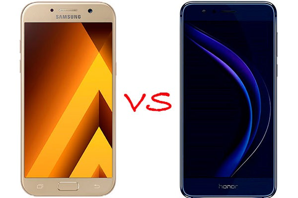Comparativa Samsung Galaxy A5 2017 vs Honor 8