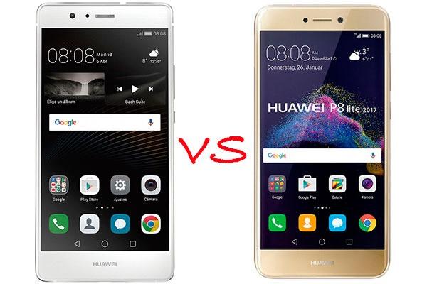 Comparativa Huawei P9 Lite vs Huawei P8 Lite 2017