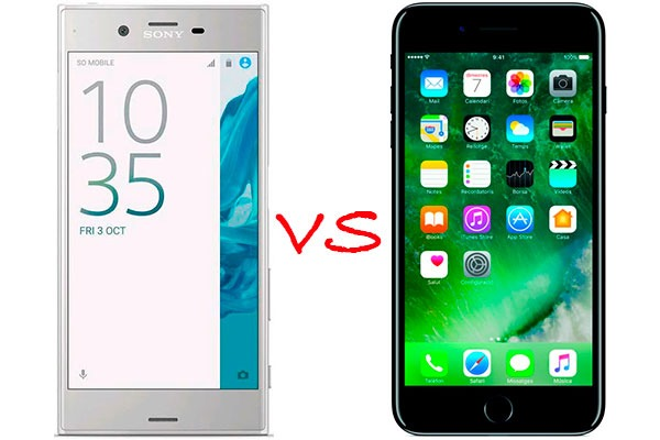 Comparativa Sony Xperia XZ vs iPhone 7 Plus
