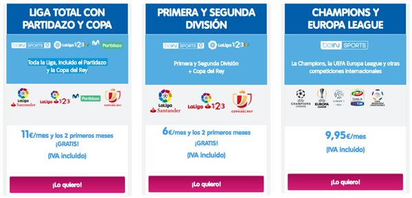 comparativa ofertas futbol movistar vs orange vs vodafone movistar telecable