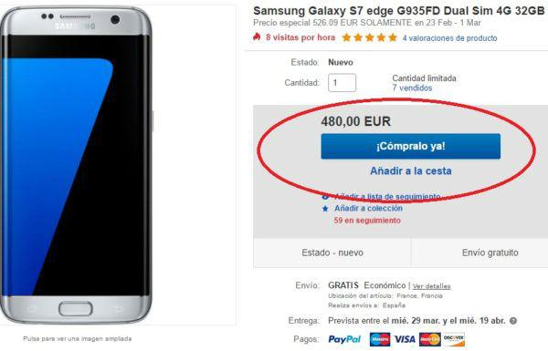 Samsung Galaxy S7 edge ebay