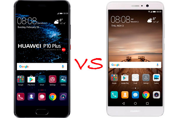 Comparativa Huawei P10 Plus vs Huawei Mate 9