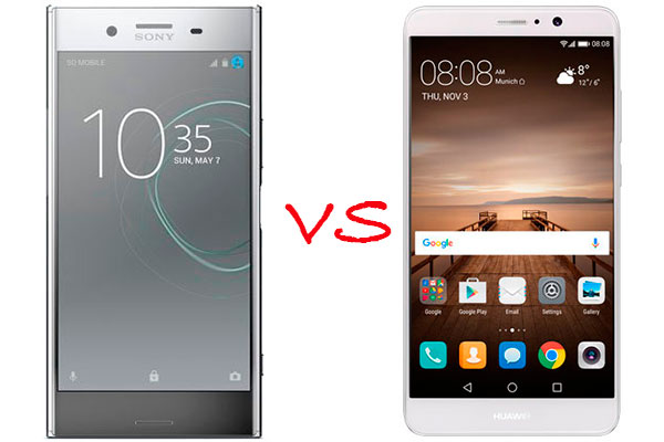 Comparativa Sony Xperia XZ Premium vs Huawei Mate 9