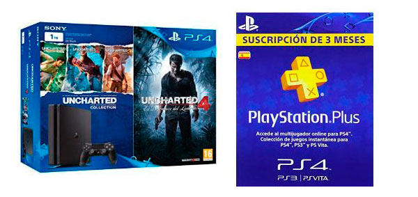PS4 Slim de 1 TB y todos los juegos de Uncharted por 300 euros