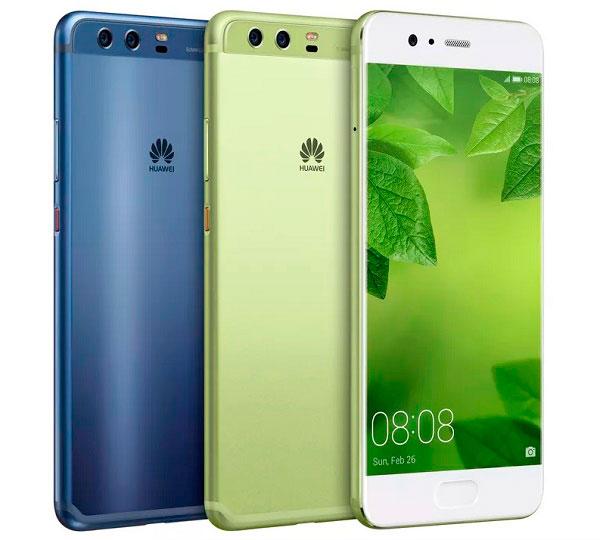 huawei p10 plus verde y azul