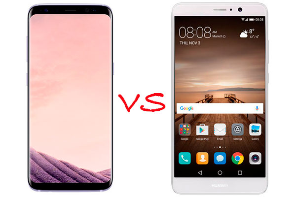 Comparativa Samsung Galaxy S8 vs Huawei Mate 9