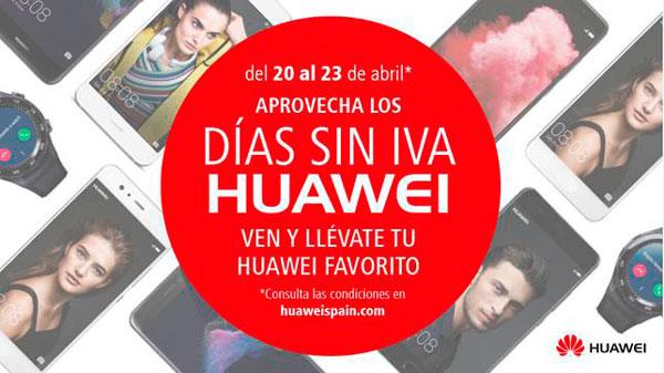 Huawei venderá sus móviles sin IVA durante varios días