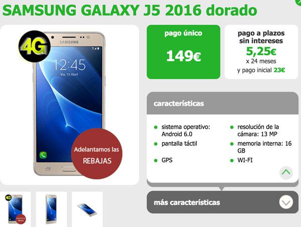 donde comprar omprar el Samsung Galaxy J5 2016 amena