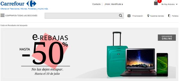 Las mejores ofertas de smartphones o teles en las e-Rebajas de Carrefour